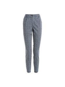 TUZZI Freizeit-Hose modische Damen Business-Hose mit Weißen flecken Blau, Größe:46