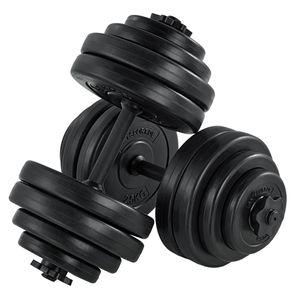 Artsport 2er Hantelset 30kg - Kurzhantel Set mit 2 Kurzhanteln, 16 Gewichte / Hantelscheiben und Sternverschlüsse| Krafttraining Kurzhantelset Hantel