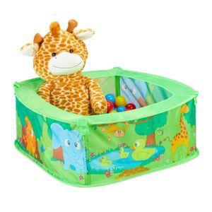 relaxdays Baby Bällebad Dschungel mit 50 Bällen