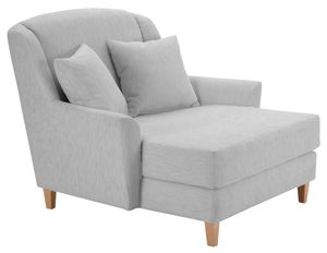 Max Winzer Judith Big-Sessel inkl. 1x Zierkissen 55x55cm - Farbe: silber - Maße: 136 cm x 142 cm x 107 cm; 2891-767-1643728-F01