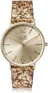Ice-Watch Damen Uhr City Madame exklusive Gold Glitter Nylon Armband 001428 (small)