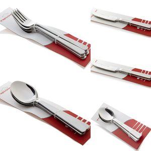 """2x Trendmax """"Messer"""" (mit Gravur) Besteck Menübesteck Edelstahl Silber Gabel Löffel Messer Teelöffel Silber Glänzend"""