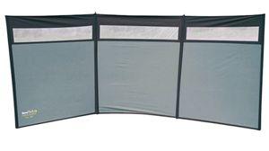 Eurotrail windschutzscheibe Sonnenuntergangsfenster 5 x 1,4 m Polyester/Stahl grau