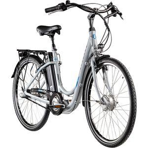Zündapp Green 2.7 26 Zoll E-Bike E Cityrad Damenrad Pedelec Elektrofahrrad Damen Fahrrad 26', Farbe:grau, Rahmengröße:46 cm