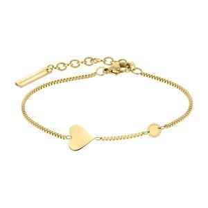 Liebeskind LJ-0510-B-20 Damen Armband Herz Edelstahl Gold 20 cm