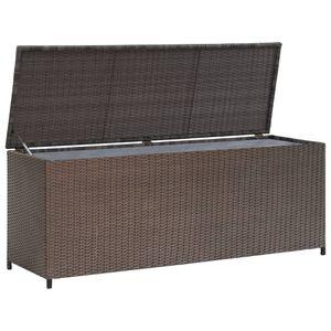 vidaXL Garten-Aufbewahrungsbox Braun 120x50x60 cm Poly Rattan