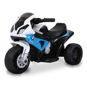 Kinder Elektro Motorrad BMW Dreirad, Farbe:Blau