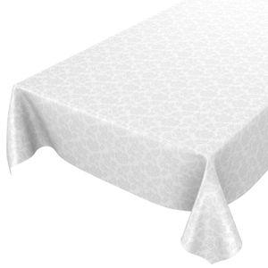 Weiß Blumen Einfarbig Reliefdruck 100x140cm Wachstuch Tischdecke