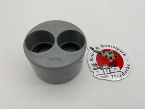 110 mm auf 2 x 50 mm Einsatz Reduzierung von Einsatz für KG Rohr Muffe