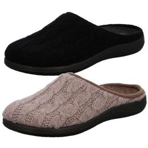 Rohde Damen Hausschuhe Pantoffeln Bari 4834, Größe:39 EU, Farbe:Braun