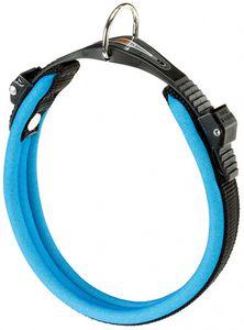 hundehalsband Ergofluo 25 bis 33 cm Polyurethanblau/schwarz