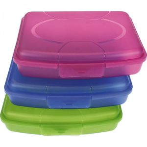 3x Brotdose Brotbüchse Butterbrotdose | Brotzeitbox Lunchbox Vesperdose Kinder