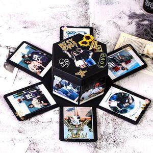 Kreative Überraschungsbox Explosionsbox DIY Geschenk Handgemachtes Scrapbook Photo Album