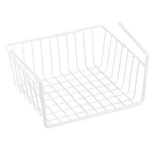 MSV Hängekorb aus Metall - 30 x 25,5 x 14 cm - Weiß - Aufbewahrungs-Korb für Küchenschränke Kleiderschränke Regale Unterbauschrank Unterbau-Regal