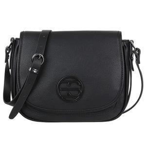 Esprit Susie T. Saddlebag Shoulderbag Umhängetasche Satteltasche 070EA1O315, Farbe:Schwarz