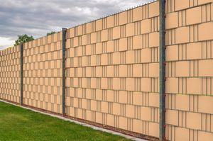 Jardinion Sichtschutzstreifen für Doppelstabmattenzaun