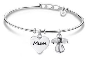 Armband Armreif Edelstahl Lotus Style LS2036-2/1 Mutter Mum
