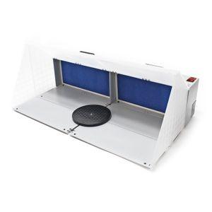 Airbrush Zubehör Doppel Absauganlage 8m³ / min Filter Farbnebel Sprühnebel