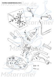 Lenkerarmatur links komplett Adly 35200-145-00B