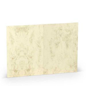Rössler Papier - - Paperado-5er Pack Karten DIN A6 hd-pl, Chamois Marmora - Liefermenge: 10 Stück