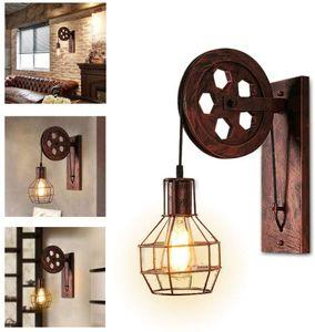 Wandleuchte  Lampe Leuchte Vintage Verstellbar Metall Wandlampe Antik Wandlampe Rustikal für Landhaus Schlafzimmer Wohnzimmer