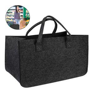 Filztasche, Filzhandtasche, tragbare Aufbewahrungstasche, Einkaufstasche, großer Filzkorb 50x25x25cm
