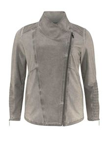 Apart Damen Marken-Bikerjacke, grau, Größe:44