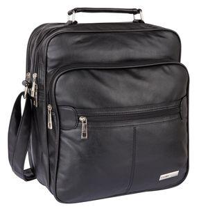 H & D Herrentasche Arbeitstasche Flugbegleiter Tasche T0139 Schwarz