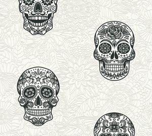 A.S. Création Vliestapete Club Tropicana Tapete metallic schwarz weiß 10,05 m x 0,53 m 358171 35817-1