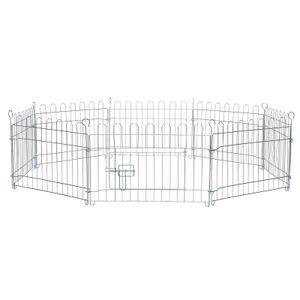 dibea Freilaufgehege für Kleintiere Auslauf für Kaninchen Kleintiergehege (S) 59x38 cm