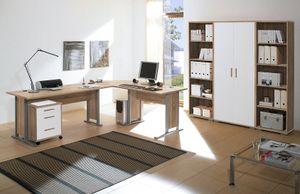 Büro OFFICE LINE in Eiche Sonoma / weiß glanz