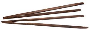 BierEx XXL Profi Grillzange aus Holz 74cm 740mm Extra Lang Lange Zange aus Nussbaum Nußbaum Holzzange Holzgriff Grillbesteck Mehrzweckzange Pfanne Grill Multizange Küchenzange auswählbar auch in 32 40 46 60 74 80 88 cm Zangen