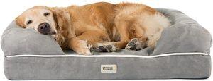 Orthopädisches Hundebett Tierbett Memory Foam Hundesofa Dog Bed Premium Hundekorb gelenkschonend weich 91x71cm