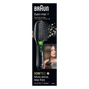 Braun Satin Hair 7 IONTEC Haarbürste BR710 – Haarbürste mit Ionentechnologie zur Förderung des Glanzes