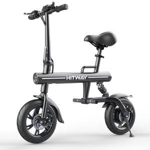 HITWAY Elektrofahrrad Ebike Klapper Bicycle für Erwachsene, Mountainbike LCD Display 250W, 7,5Ah Batterie, 3 Geschwindigkeitsmodi, 12 Zoll