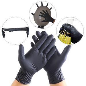 Einweg-Handschuhe Nitrilhandschuhe puderfrei SCHWARZ 100 Stück Gr. M Handflächenbreite 8-9cm