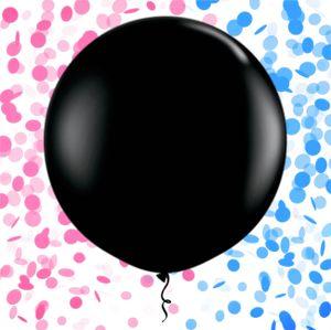 Riesen Luft-Ballon Boy or Girl inkl Konfetti-Füllung in rosa & blau 90 cm Baby-Shower-Party