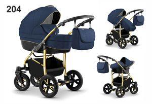 Kinderwagen City Lux, 3in1- Set Wanne Buggy Babyschale Autositz mit Zubehör 204