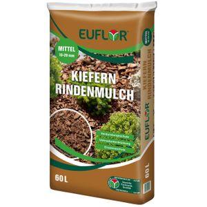 EUFLOR Kiefernrindenmulch Mittel 10-20 mm Mulch-Abdeckmaterial, 60 Liter