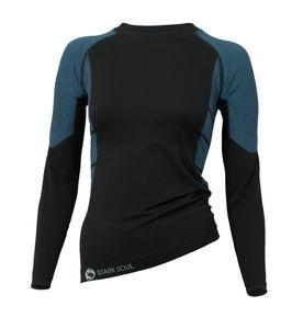Stark Soul® Skiunterwäsche - Hemd Langarm Funktionswäsche S/M schwarz/türkis