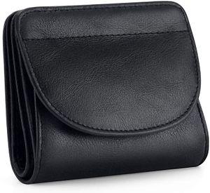 Damen klein Echtes Leder RFID Schutz mit Münzfach Mini Geldbörse Fraun Portmonee Brieftasche Geldbeutel Mädchen