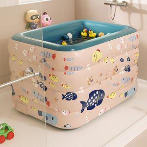 Aufblasbares Schwimmbad Kinder PVC Planschbecken Badewanne Gartenpool Drahtlos Automatisches Aufblasen 120cm Rosa