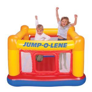 Intex 48260 Jump-O-Lene Hüpfburg aufblasbares Trampolin KinderFärbung: Multicolor, Höhe (cm): 112, Breite (cm): 174, Tiefe (cm): 174, Modelle: 48260, Anzahl Plätze: 2, Kapazität: Max 54 kg