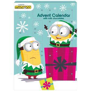Minions - BIP Adventskalender mit Schokolade, Schoko Weihnachts Kalender