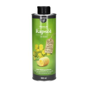 borchers Premium Rapsöl | Feiner Buttergeschmack | Reich an Omega-3-Fettsäuren | Zum Braten und Verfeinern | 500 ml.