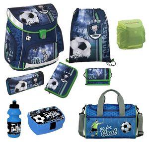 Fußball Schulranzen Set 9tlg Scooli Campus Sporttasche blau Football Ranzen 1. Klasse