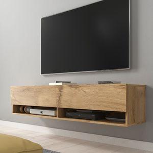 Selsey TV-Lowboard WANDER TV-Schrank Wotan Eiche Holzoptik hängend 140 cm