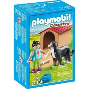 PLAYMOBIL Hofhund mit Hütte, 70136