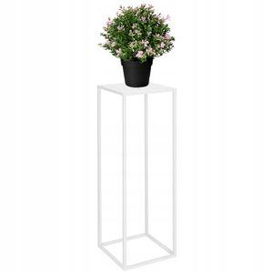 Modern Blumenständer Metall Blumensäule Weiß 80 cm