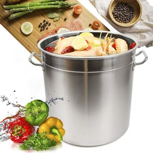 Suppentopf Edelstahl mit Deckel  35L großem Fassungsvermögen Universaltopf Kochtopf Küchenkochgeschirr Gulaschkessel Gulaschtopf Campingkochtopf Eintopf mit großer  Kapazität Suppentopf Home Brew Pot